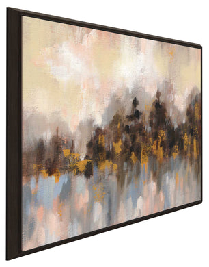 Blushing Forest I by Silvia Vassileva Print on Canvas in Floating Frame Abstract,Landscapes,,Brown art,Square Shape,All Floating Canvas,Silvia Vassileva