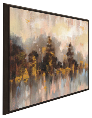Blushing Forest II by Silvia Vassileva Print on Canvas in Floating Frame Abstract,Landscapes,,Brown art,Square Shape,All Floating Canvas,Silvia Vassileva