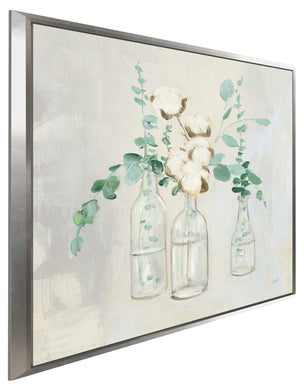 Summer Cuttings II by Julia Purinton Print on Canvas in Floating Frame Floral,Gray art,Square Shape,All Floating Canvas,Julia Purington