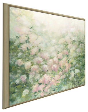 Dreamy by Julia Purinton Print on Canvas in Floating Frame Floral,Green art,Square Shape,All Floating Canvas,Julia Purington