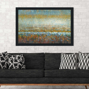 Rains over the Lake IV Print on Acrylic Abstract,Blue art,Landscape Shape,All Acrylic Art,Danhui Nai,All Subjects,All Colors,All Shapes,All Artists