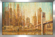 Champagne City IV Print on Acrylic Cityscapes,Orange art,Landscape Shape,All Acrylic Art,Danhui Nai,All Subjects,All Colors,All Shapes,All Artists