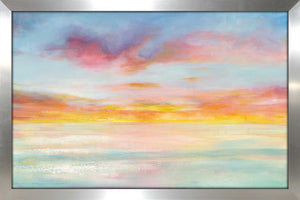 Pastel Sky Print on Acrylic Abstract,Blue art,Landscape Shape,All Acrylic Art,Danhui Nai,All Subjects,All Colors,All Shapes,All Artists