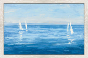 Open Sail with Turquoise by Julia Purinton Print on Acrylic Sea and Shore,Blue art,Landscape Shape,All Acrylic Art,Julia Purington,All Subjects,All Colors,All Shapes,All Artists