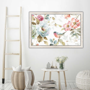 Beautiful Romance IV by Lisa Audit Print on Acrylic Floral,White art,Landscape Shape,All Acrylic Art,Lisa Audit,All Subjects,All Colors,All Shapes,All Artists