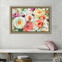 Florabundance I by Lisa Audit Print on Acrylic Floral,Red art,Landscape Shape,All Acrylic Art,Lisa Audit,All Subjects,All Colors,All Shapes,All Artists