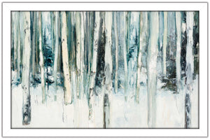 Winter Woods III Light Trees Crop by Julia Purinton Print on Acrylic Landscapes,White art,Landscape Shape,All Acrylic Art,Julia Purington,All Subjects,All Colors,All Shapes,All Artists