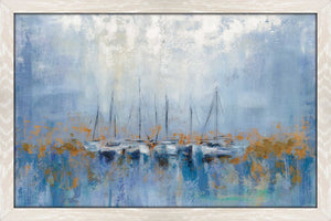 Boats in the Harbor I by Silvia Vassileva Print on Acrylic Sea and Shore,Blue art,Landscape Shape,All Acrylic Art,Silvia Vassileva,All Subjects,All Colors,All Shapes,All Artists