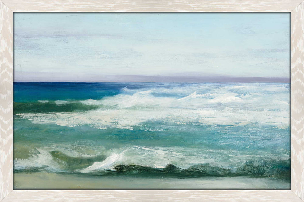 Azure Ocean by Julia Purinton Print on Acrylic Sea and Shore,Blue art,Landscape Shape,All Acrylic Art,Julia Purington,All Subjects,All Colors,All Shapes,All Artists