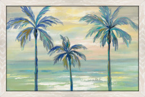 Marine Layer Palms by Silvia Vassileva Print on Acrylic Landscapes,Green art,Landscape Shape,All Acrylic Art,Silvia Vassileva,All Subjects,All Colors,All Shapes,All Artists