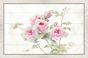 Sweet Roses on Wood Print on Acrylic Floral,Pink art,Landscape Shape,All Acrylic Art,Danhui Nai,All Subjects,All Colors,All Shapes,All Artists