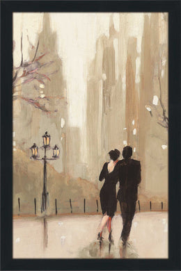 An Evening Out Neutral II by Julia Purinton Print on Acrylic Cityscapes,Romance,Brown art,Portrait Shape,All Acrylic Art,Julia Purington,All Subjects,All Colors,All Shapes,All Artists