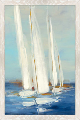 Summer Regatta II by Julia Purinton Print on Acrylic Sea and Shore,Blue art,Portrait Shape,All Acrylic Art,Julia Purington,All Subjects,All Colors,All Shapes,All Artists