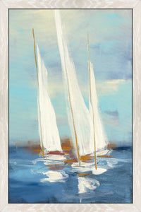 Summer Regatta III by Julia Purinton Print on Acrylic Sea and Shore,Blue art,Portrait Shape,All Acrylic Art,Julia Purington,All Subjects,All Colors,All Shapes,All Artists