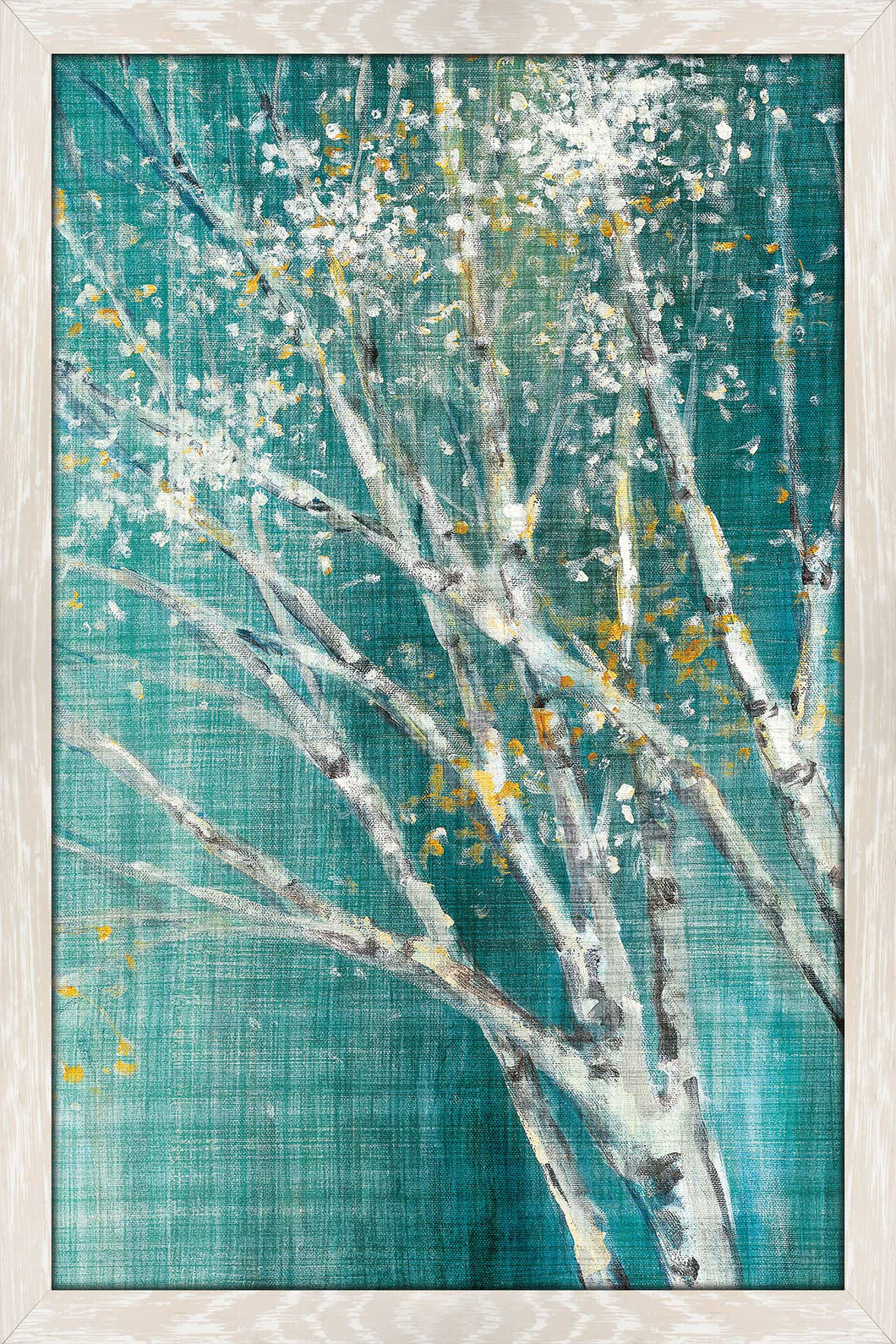 Blue Birch Horizontal III by Julia Purinton Print on Acrylic Landscapes,Green art,Portrait Shape,All Acrylic Art,Julia Purington,All Subjects,All Colors,All Shapes,All Artists