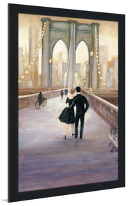 Bridge to NY V by Julia Purinton Print on Acrylic Cityscapes,Romance,Brown art,Portrait Shape,All Acrylic Art,Julia Purington,All Subjects,All Colors,All Shapes,All Artists