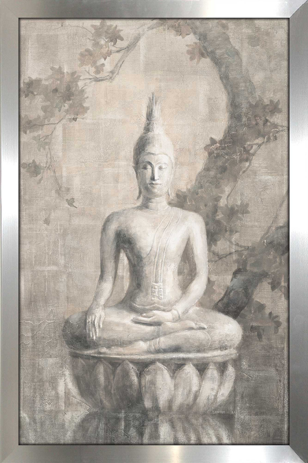 Buddha Neutral Print on Acrylic Spiritual,Gray art,Portrait Shape,All Acrylic Art,Danhui Nai,All Subjects,All Colors,All Shapes,All Artists