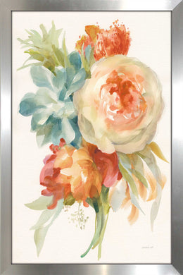 Autumn Garden Bouquet I Print on Acrylic Floral,Orange art,Portrait Shape,All Acrylic Art,Danhui Nai,All Subjects,All Colors,All Shapes,All Artists