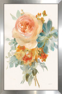 Autumn Garden Bouquet II Print on Acrylic Floral,Orange art,Portrait Shape,All Acrylic Art,Danhui Nai,All Subjects,All Colors,All Shapes,All Artists