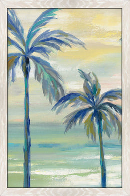 Marine Layer Palms III by Silvia Vassileva Print on Acrylic Landscapes,Green art,Portrait Shape,All Acrylic Art,Silvia Vassileva,All Subjects,All Colors,All Shapes,All Artists