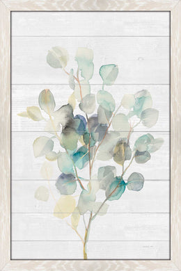 Eucalyptus III on Shiplap Print on Acrylic Floral,White art,Portrait Shape,All Acrylic Art,Danhui Nai,All Subjects,All Colors,All Shapes,All Artists