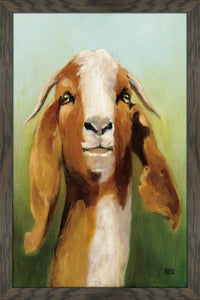 Got Your Goat by Julia Purinton Print on Acrylic Animals,Green art,Portrait Shape,All Acrylic Art,Julia Purington,All Subjects,All Colors,All Shapes,All Artists
