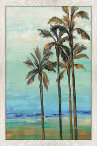 Copper Palms I by Silvia Vassileva Print on Acrylic Landscapes,Blue art,Portrait Shape,All Acrylic Art,Silvia Vassileva,All Subjects,All Colors,All Shapes,All Artists
