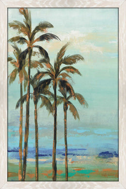 Copper Palms II by Silvia Vassileva Print on Acrylic Landscapes,Blue art,Portrait Shape,All Acrylic Art,Silvia Vassileva,All Subjects,All Colors,All Shapes,All Artists