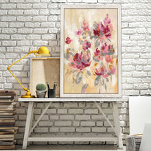 Floral Reflections II by Silvia Vassileva Print on Acrylic Floral,Pink art,Portrait Shape,All Acrylic Art,Silvia Vassileva,All Subjects,All Colors,All Shapes,All Artists