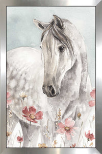 Wild Horses I Crop by Lisa Audit Print on Acrylic Animals,Gray art,Portrait Shape,All Acrylic Art,Lisa Audit,All Subjects,All Colors,All Shapes,All Artists