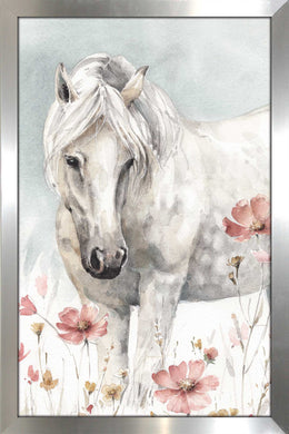 Wild Horses II Crop by Lisa Audit Print on Acrylic Animals,Gray art,Portrait Shape,All Acrylic Art,Lisa Audit,All Subjects,All Colors,All Shapes,All Artists