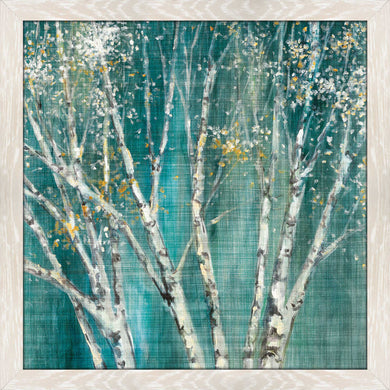Blue Birch Horizontal I by Julia Purinton Print on Acrylic Landscapes,Green art,Square Shape,All Acrylic Art,Julia Purington,All Subjects,All Colors,All Shapes,All Artists