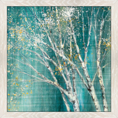 Blue Birch Horizontal II by Julia Purinton Print on Acrylic Landscapes,Green art,Square Shape,All Acrylic Art,Julia Purington,All Subjects,All Colors,All Shapes,All Artists