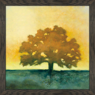 Under the Oak II by Julia Purinton Print on Acrylic Landscapes,Yellow art,Square Shape,All Acrylic Art,Julia Purington,All Subjects,All Colors,All Shapes,All Artists
