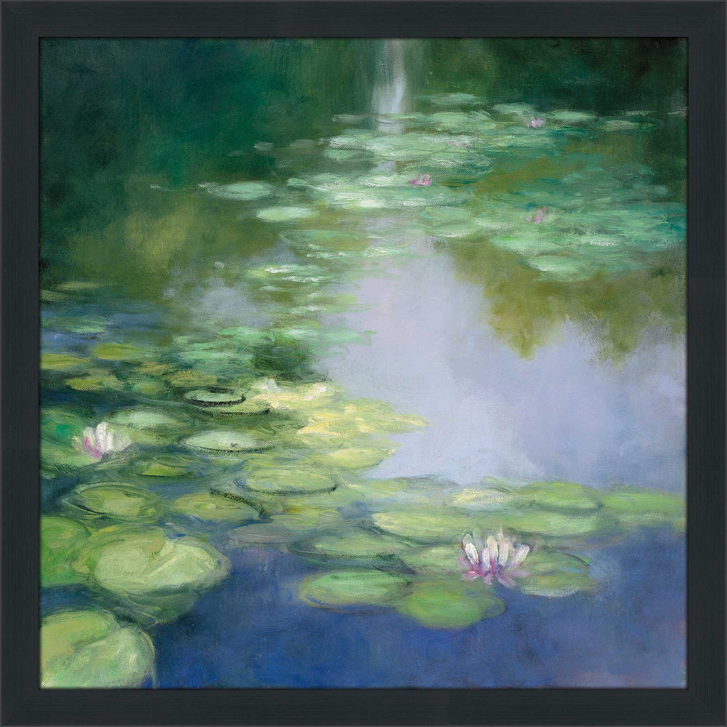 Blue Lily I by Julia Purinton Print on Acrylic Landscapes,Green art,Square Shape,All Acrylic Art,Julia Purington,All Subjects,All Colors,All Shapes,All Artists
