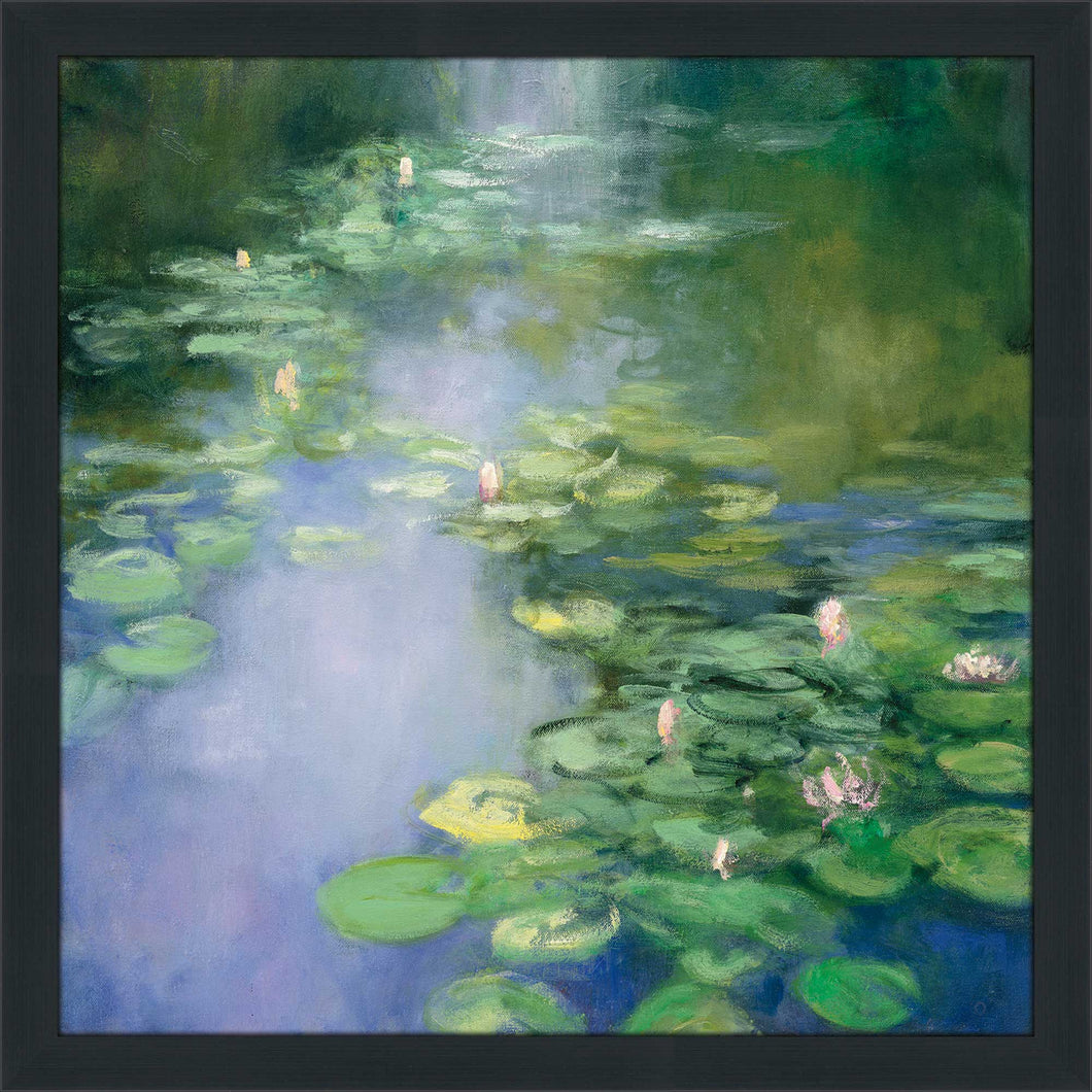 Blue Lily II by Julia Purinton Print on Acrylic Landscapes,Green art,Square Shape,All Acrylic Art,Julia Purington,All Subjects,All Colors,All Shapes,All Artists