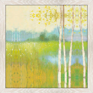 Spring Fling II by Julia Purinton Print on Acrylic Landscapes,Green art,Square Shape,All Acrylic Art,Julia Purington,All Subjects,All Colors,All Shapes,All Artists