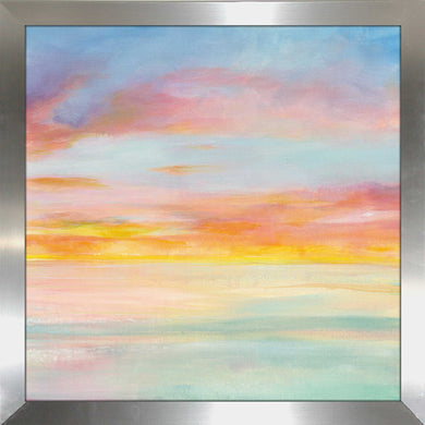Pastel Sky I Print on Acrylic Abstract,Blue art,Square Shape,All Acrylic Art,Danhui Nai,All Subjects,All Colors,All Shapes,All Artists