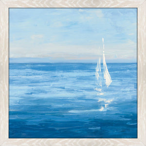 Open Sail with Turquoise I by Julia Purinton Print on Acrylic Sea and Shore,Blue art,Square Shape,All Acrylic Art,Julia Purington,All Subjects,All Colors,All Shapes,All Artists