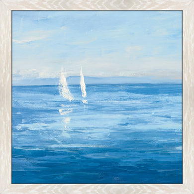 Open Sail with Turquoise II by Julia Purinton Print on Acrylic Sea and Shore,Blue art,Square Shape,All Acrylic Art,Julia Purington,All Subjects,All Colors,All Shapes,All Artists