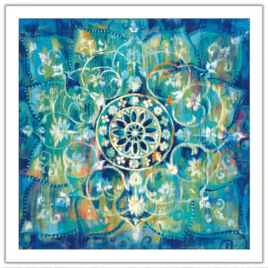 Mandala in Blue I Bright I Print on Acrylic Abstract,Blue art,Square Shape,All Acrylic Art,Danhui Nai,All Subjects,All Colors,All Shapes,All Artists