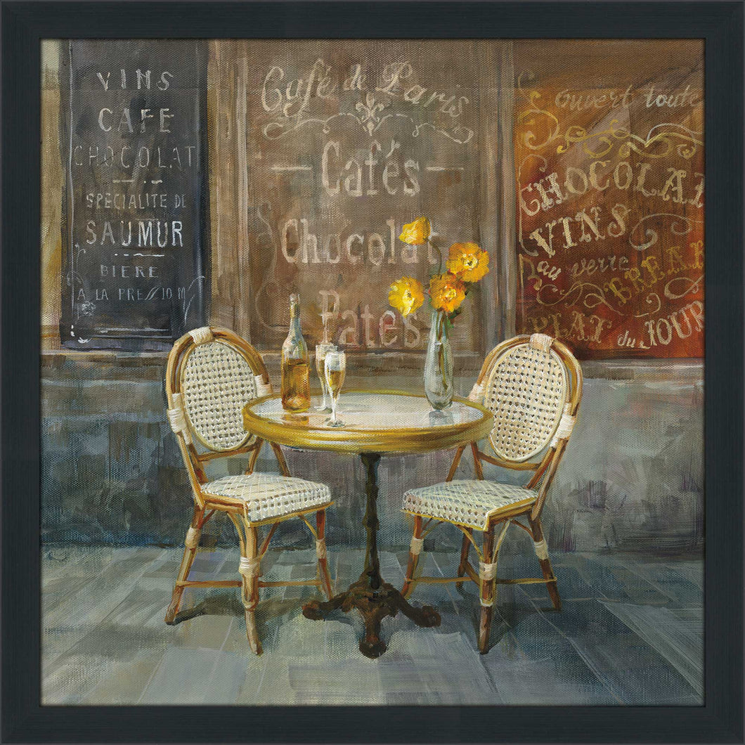 French Cafe Print on Acrylic Food and beverage,Brown art,Square Shape,All Acrylic Art,Danhui Nai,All Subjects,All Colors,All Shapes,All Artists