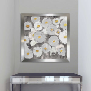 Bohemian Bouquet III Warm by Silvia Vassileva Print on Acrylic Floral,Gray art,Square Shape,All Acrylic Art,Silvia Vassileva,All Subjects,All Colors,All Shapes,All Artists