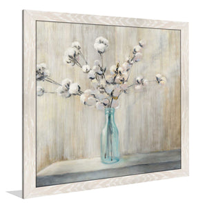 Cotton Bouquet I by Julia Purinton Print on Acrylic Floral,Gray art,Square Shape,All Acrylic Art,Julia Purington,All Subjects,All Colors,All Shapes,All Artists