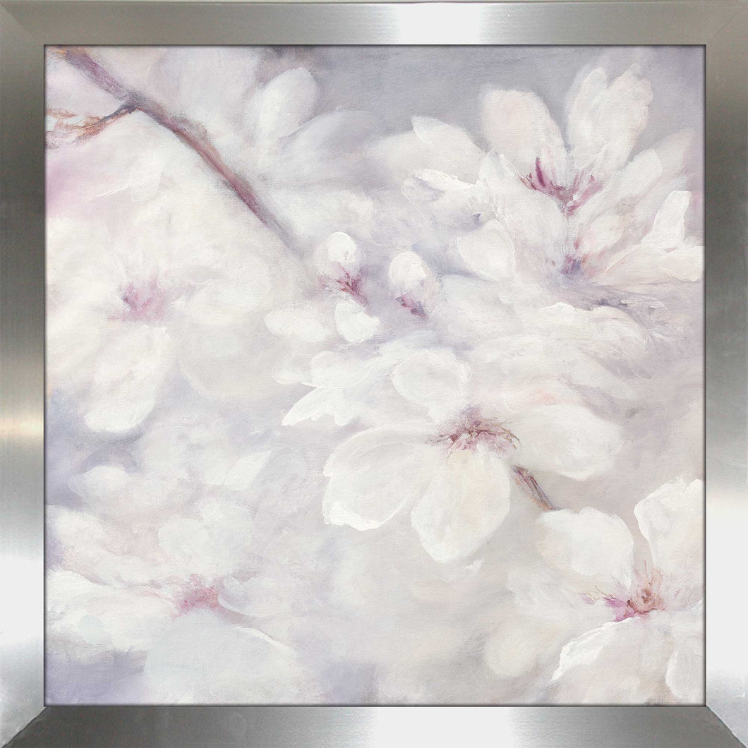 Cherry Blossoms II by Julia Purinton Print on Acrylic Floral,Gray art,Square Shape,All Acrylic Art,Julia Purington,All Subjects,All Colors,All Shapes,All Artists