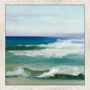 Azure Ocean II by Julia Purinton Print on Acrylic Sea and Shore,Blue art,Square Shape,All Acrylic Art,Julia Purington,All Subjects,All Colors,All Shapes,All Artists