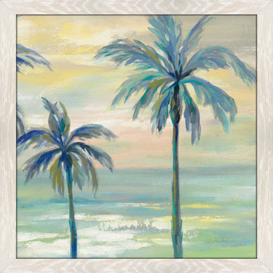 Marine Layer Palms I by Silvia Vassileva Print on Acrylic Landscapes,Green art,Square Shape,All Acrylic Art,Silvia Vassileva,All Subjects,All Colors,All Shapes,All Artists
