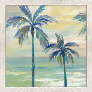 Marine Layer Palms II by Silvia Vassileva Print on Acrylic Landscapes,Green art,Square Shape,All Acrylic Art,Silvia Vassileva,All Subjects,All Colors,All Shapes,All Artists