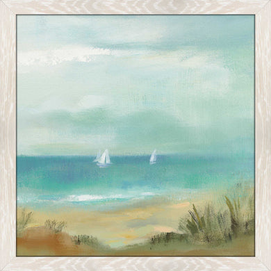 Serenity on the Beach I by Silvia Vassileva Print on Acrylic Sea and Shore,Blue art,Square Shape,All Acrylic Art,Silvia Vassileva,All Subjects,All Colors,All Shapes,All Artists