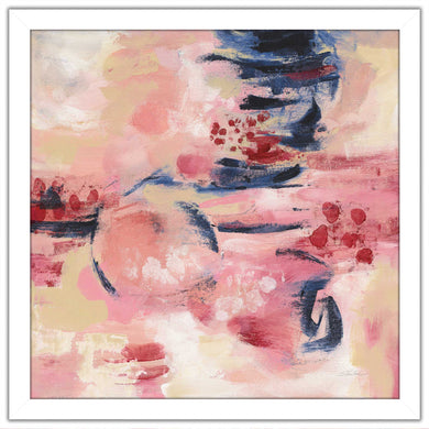 Sakura II by Silvia Vassileva Print on Acrylic Abstract,Pink art,Square Shape,All Acrylic Art,Silvia Vassileva,All Subjects,All Colors,All Shapes,All Artists